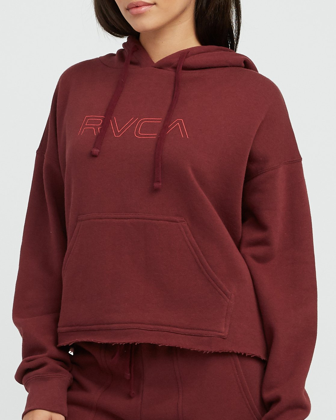 3 Pinner Cropped Hoodie Pink W621SRPI RVCA