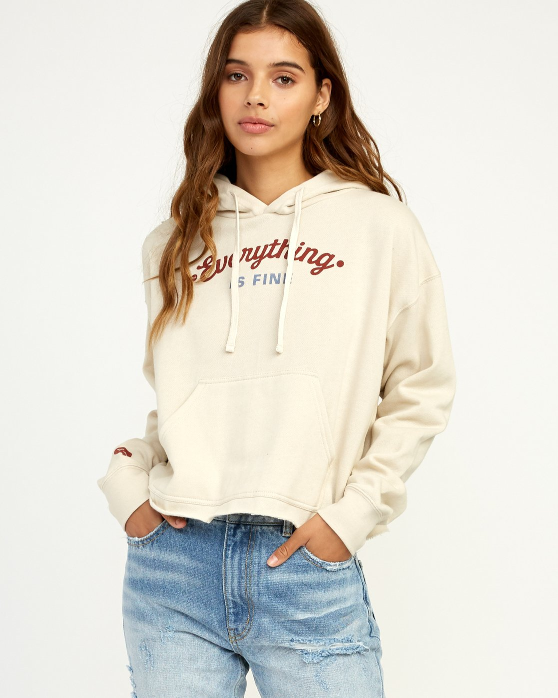 0 Everything Is Fine Hoodie  W621TREV RVCA