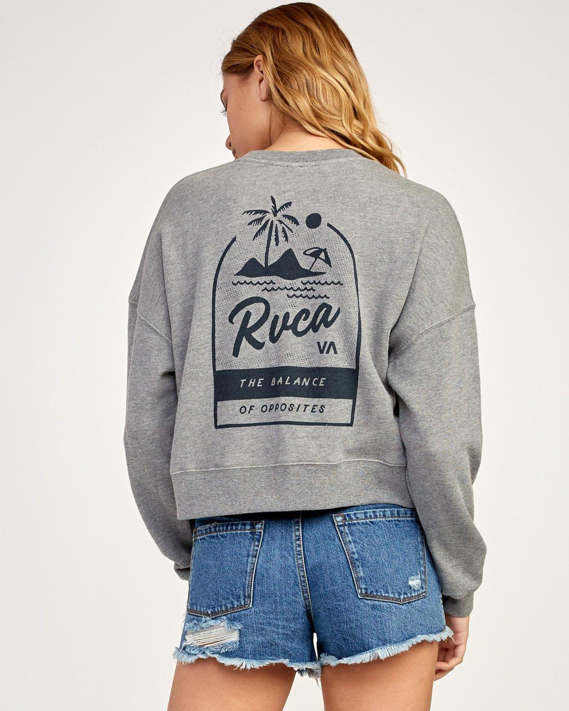 2 Mai Tai Fleece Pullover Grey W627TRMA RVCA