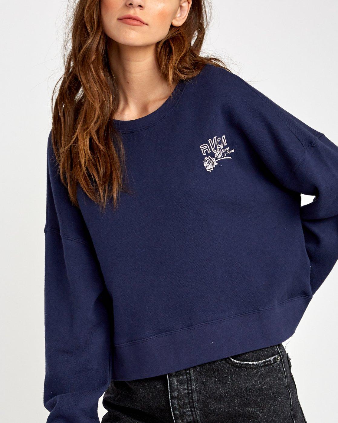 3 Thorns Pullover Sweatshirt Blue W627VRTH RVCA