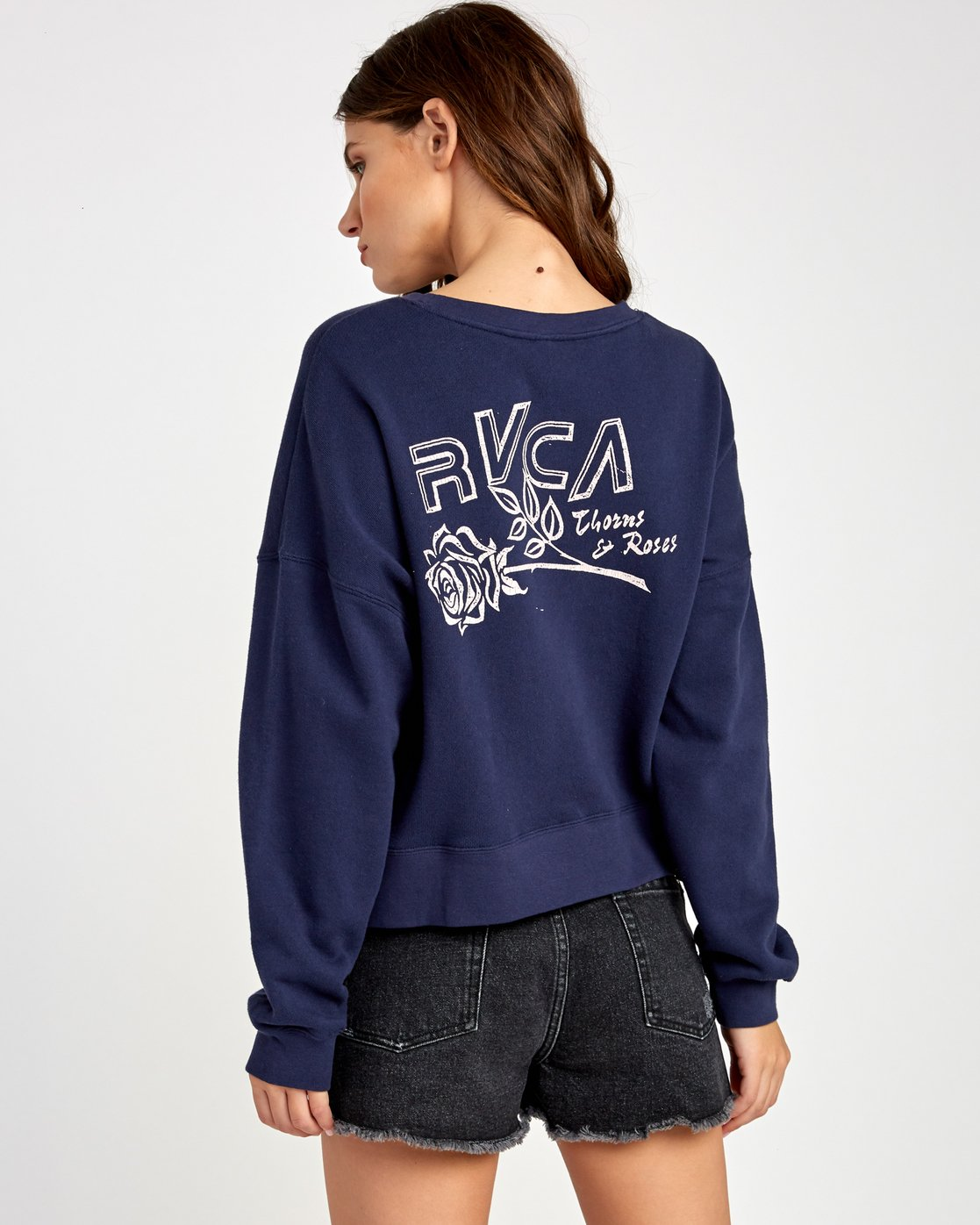 0 Thorns Pullover Sweatshirt Blue W627VRTH RVCA