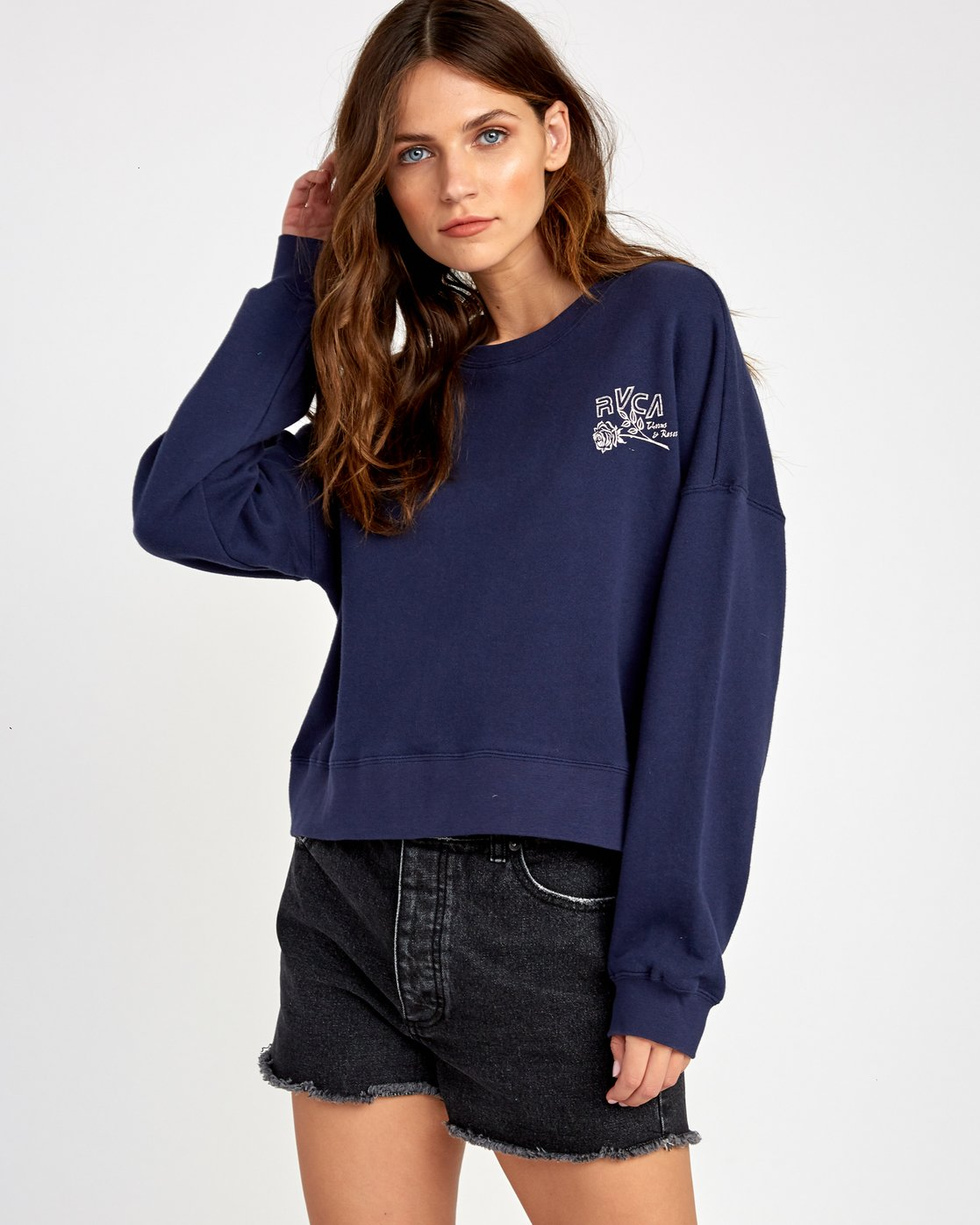 1 Thorns Pullover Sweatshirt Blue W627VRTH RVCA