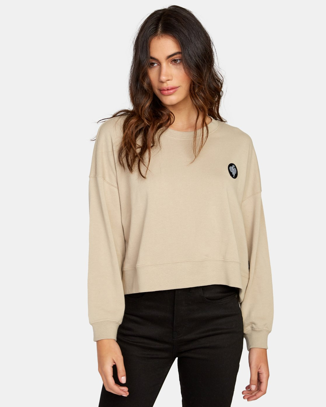 1 Coiled Crew Sweatshirt Beige W627WRCO RVCA