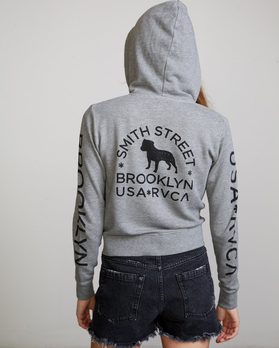 2 Smith Street Wicks Hoodie Grey W632VRWI RVCA