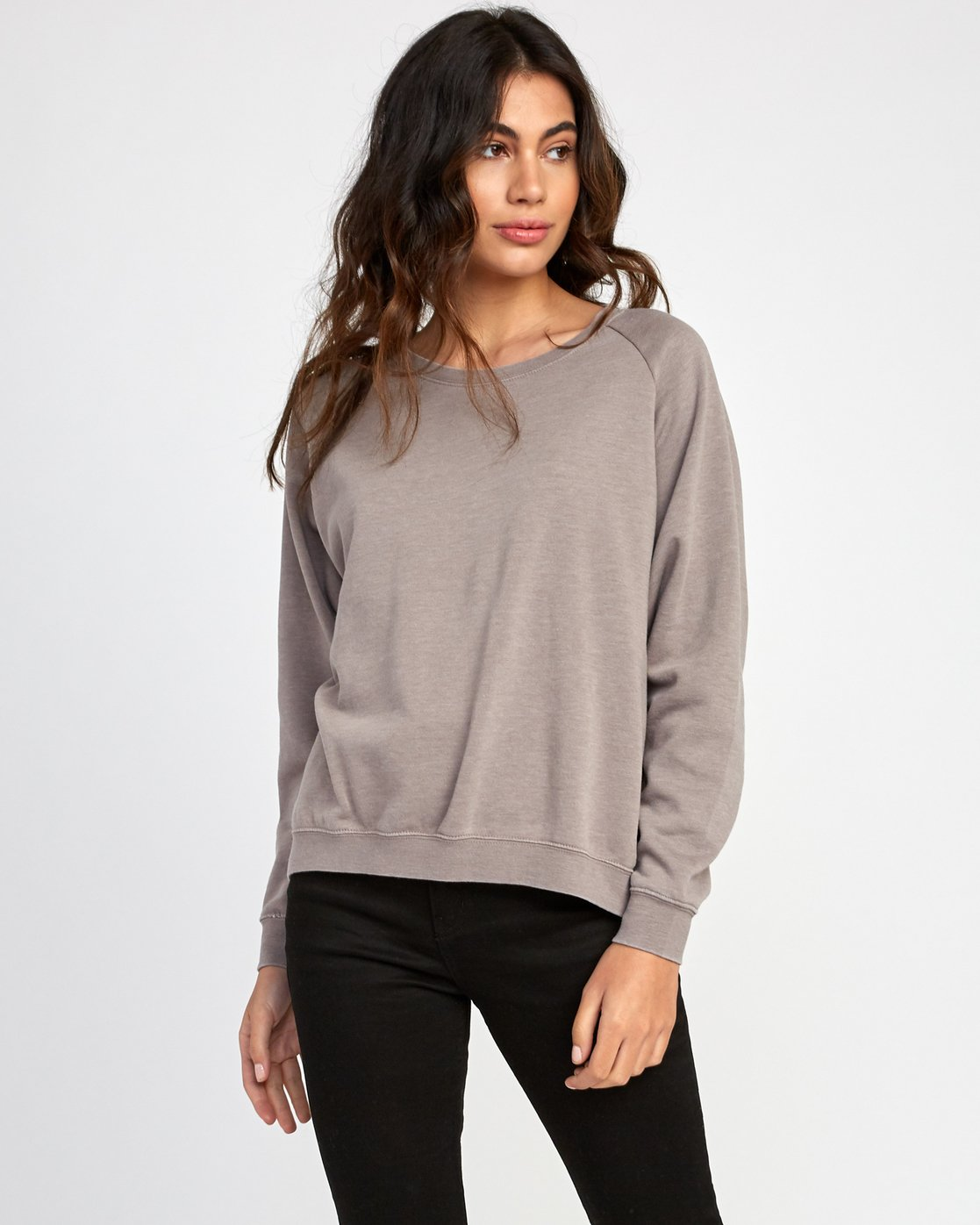 1 Everyday Label Sweatshirt Grey W634VREV RVCA
