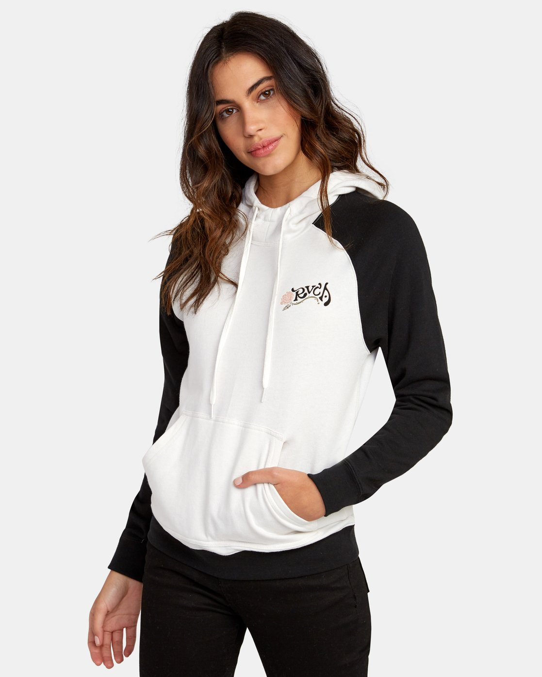 0 Bloom Colorblocked Hoodie White W636WRBL RVCA