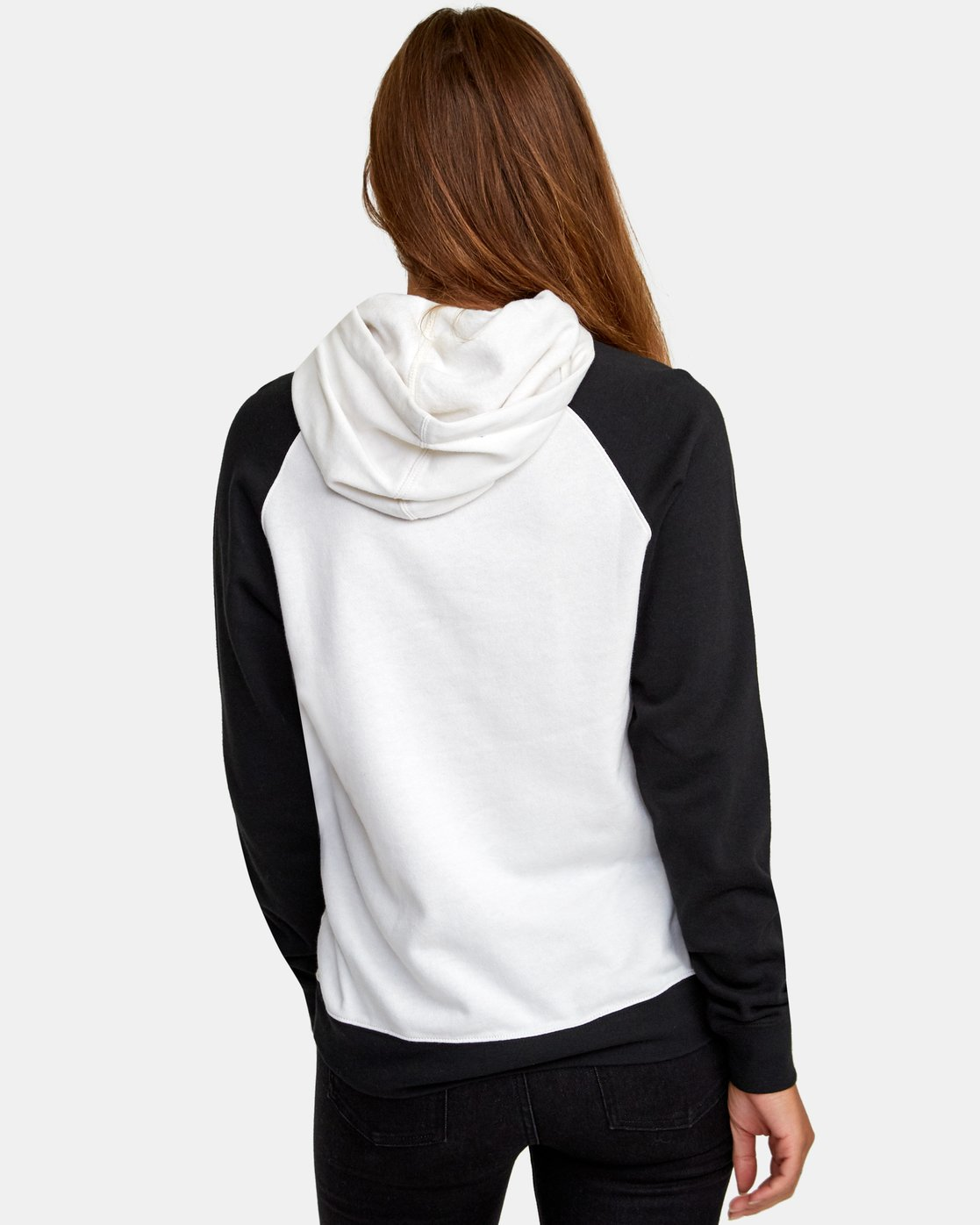 2 Motors Patch Colorblocked Hoodie White W636WRMO RVCA