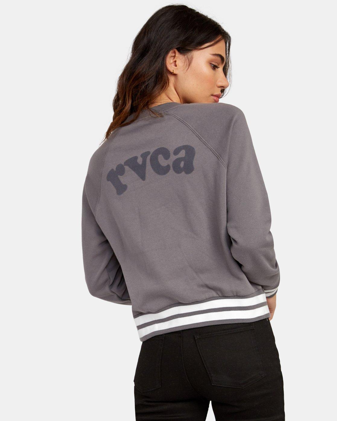 3 Cooper Raglan Sweatshirt Grey W637WRCO RVCA