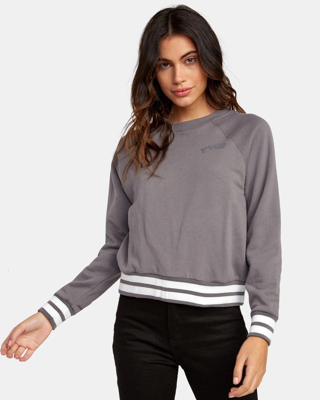 0 Cooper Raglan Sweatshirt Grey W637WRCO RVCA