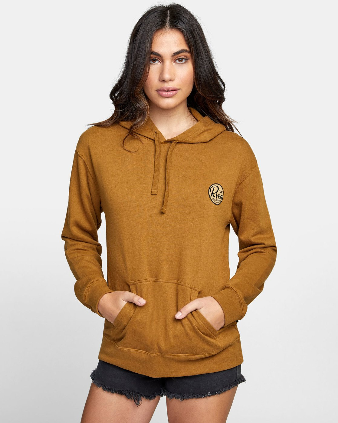 0 PATCH SEAL PO HOODIE Brown W6391RPS RVCA