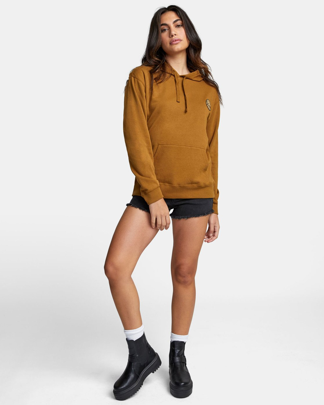 1 PATCH SEAL PO HOODIE Brown W6391RPS RVCA