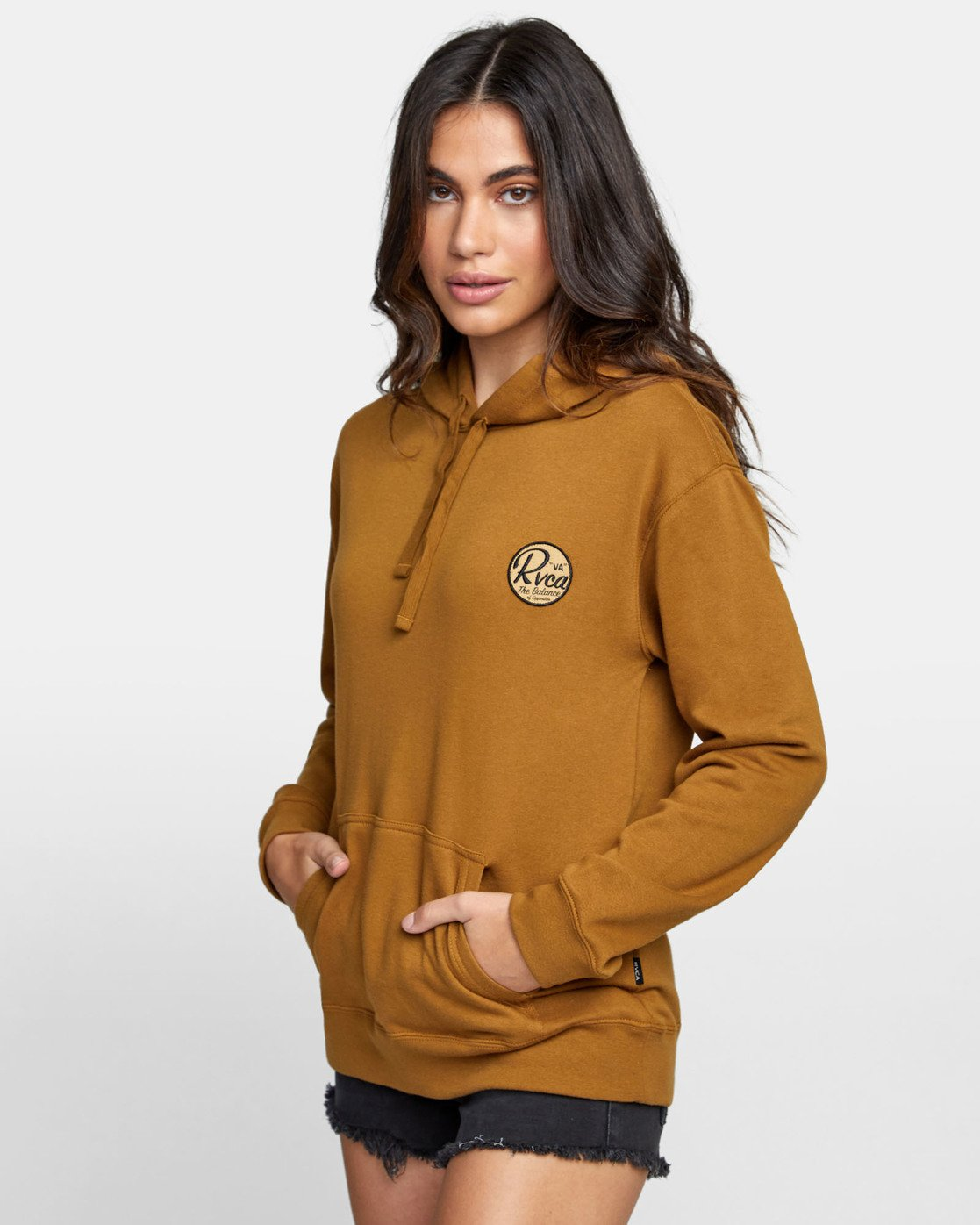 2 PATCH SEAL PO HOODIE Brown W6391RPS RVCA