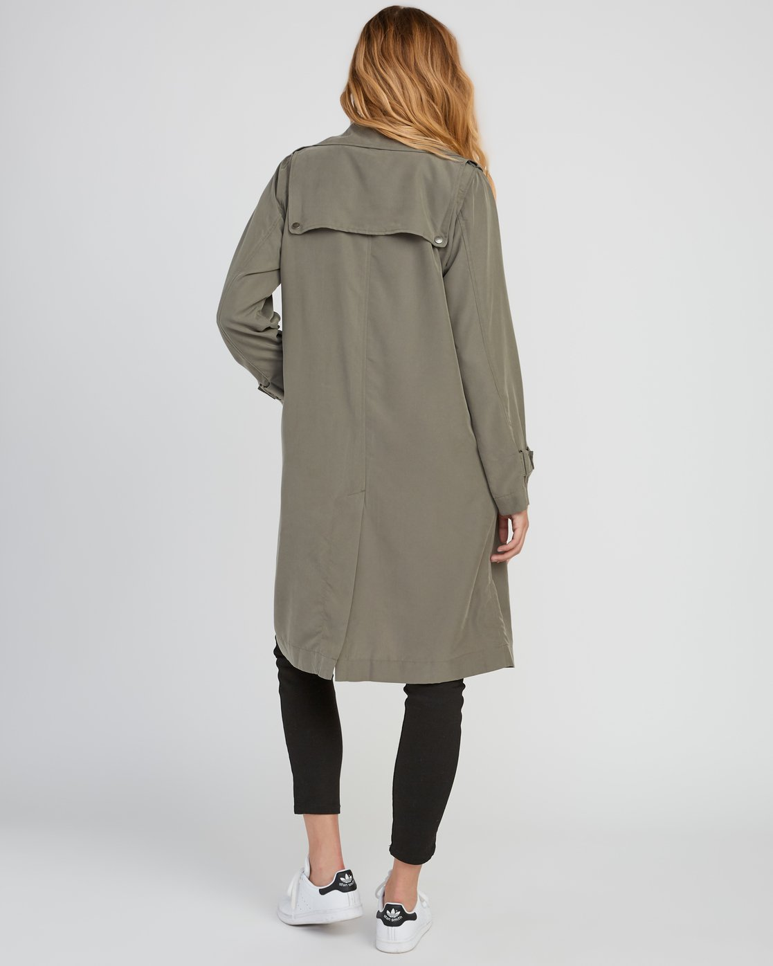 2 Mac Draped Trench Coat Green W701SRMA RVCA
