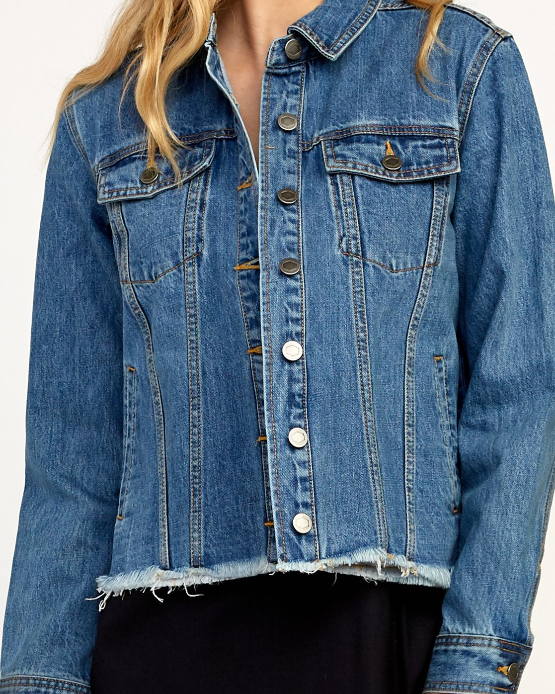 3 Pause It Striped Denim Jacket  W702TRPA RVCA