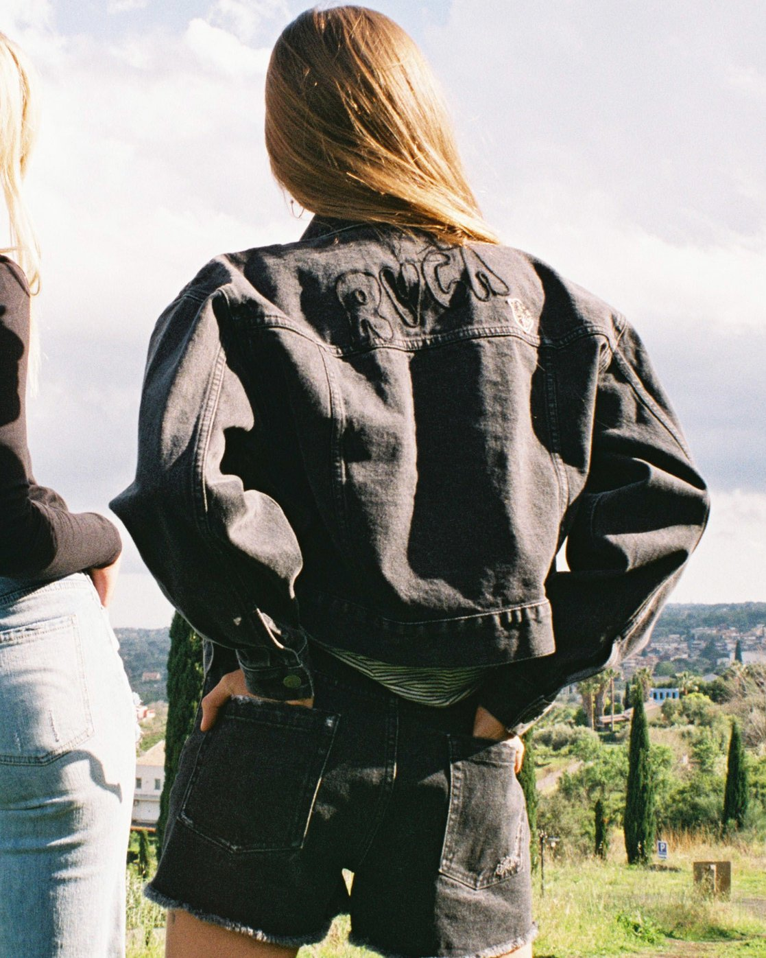 1 Grisancich Empire Denim Jacket Black W702VREM RVCA
