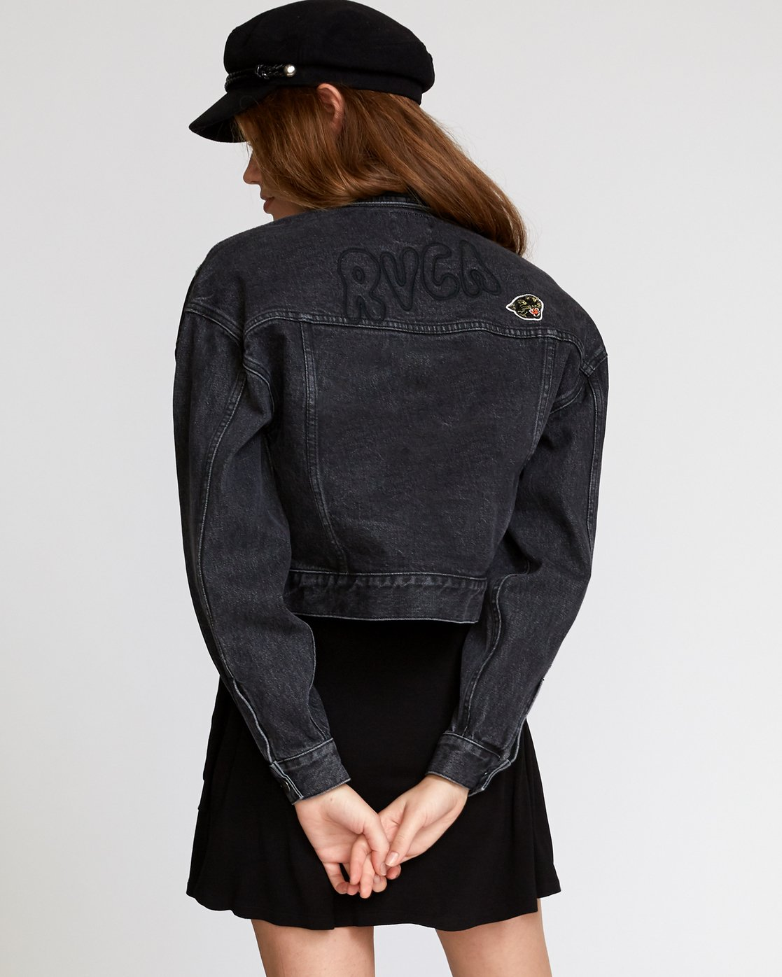 4 Grisancich Empire Denim Jacket Black W702VREM RVCA