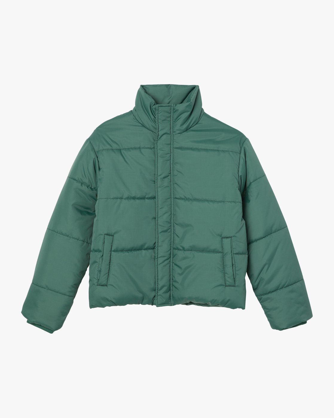 6 Eezeh Puffer Cropped Jacket Green W703QREE RVCA