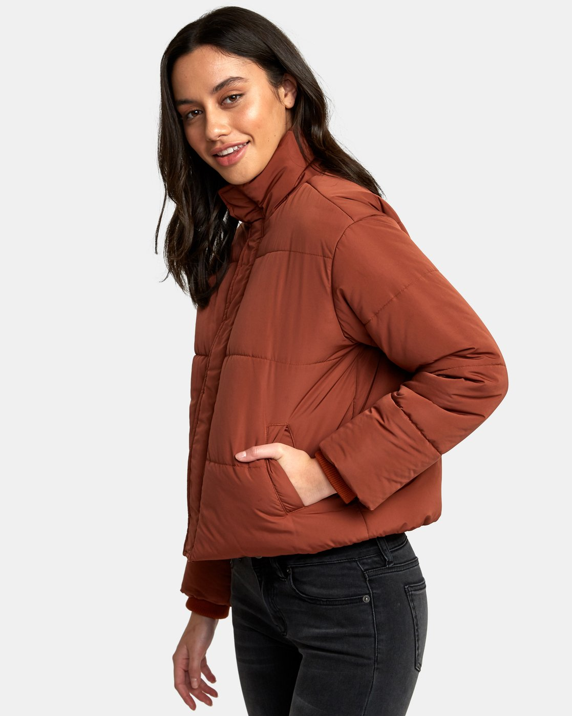 1 Eezeh Puffer Cropped Jacket  W703QREE RVCA