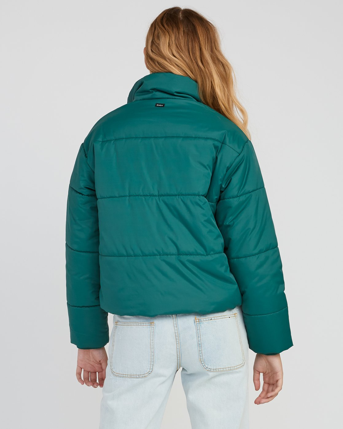 3 Eezeh Puffer Cropped Jacket Green W703QREE RVCA