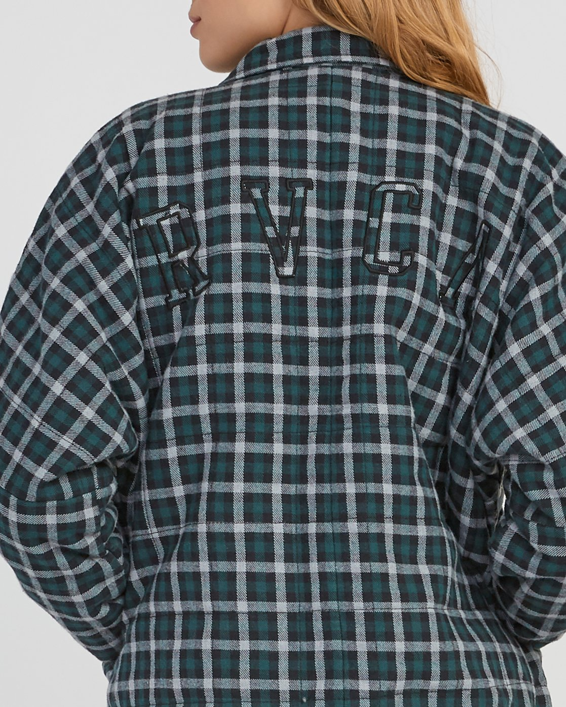 4 Caddy Plaid Flannel Jacket Green W703SRCA RVCA