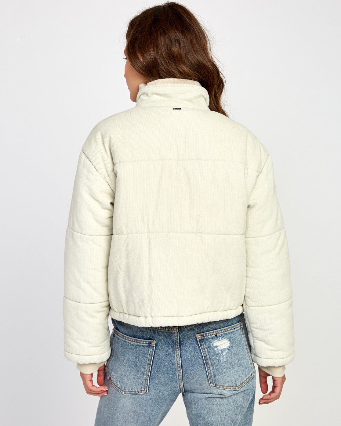 5 Eezeh Corduroy Puffer Cropped Jacket  W703VREE RVCA