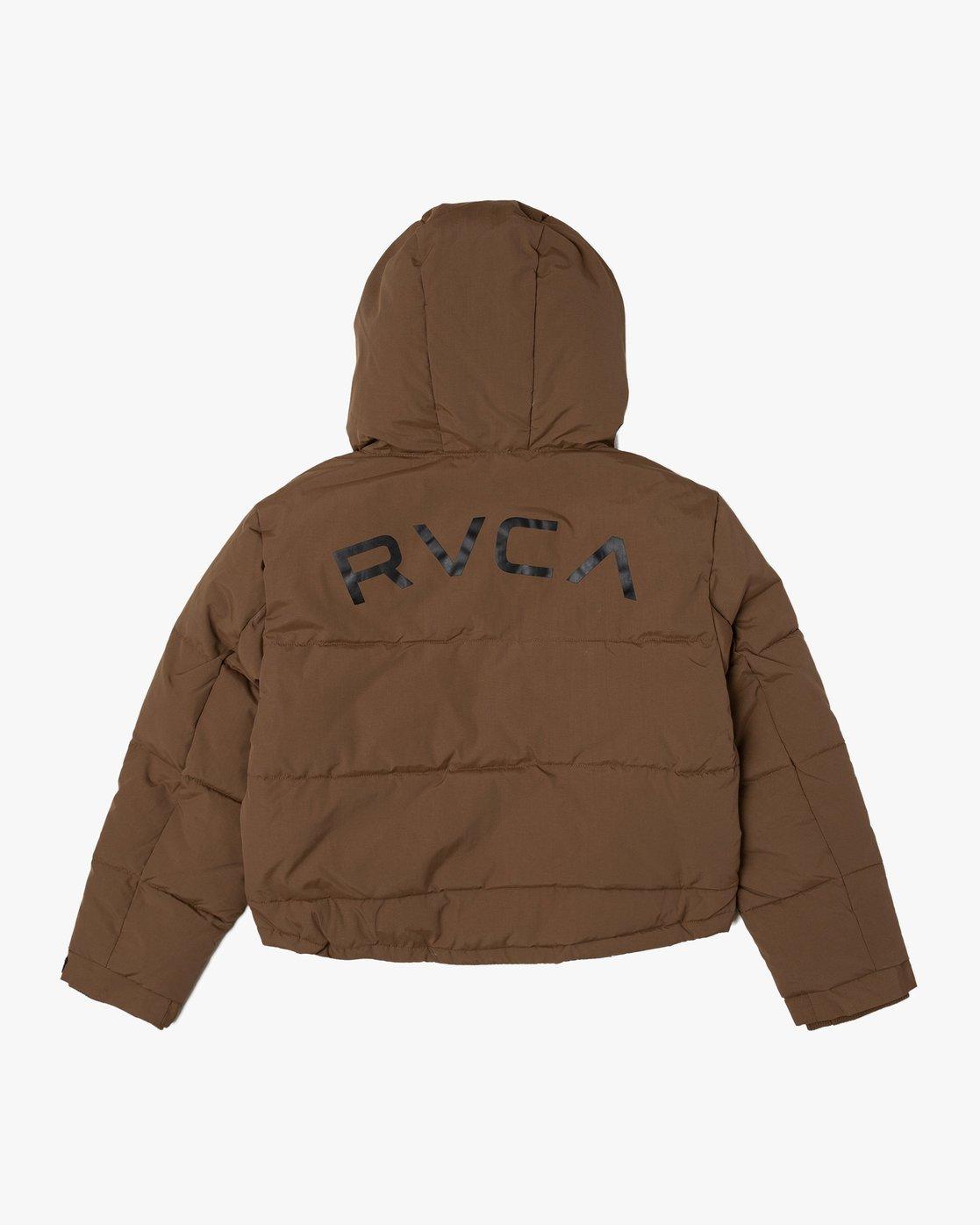 1 RVCA PUFFA JACKET Brown W703VRRP RVCA
