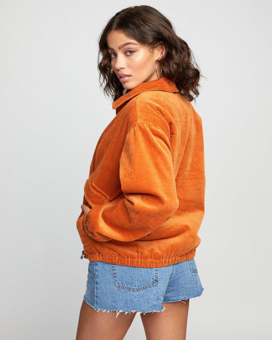4 VIBER CORDUROY JACKET Orange W7043RVI RVCA