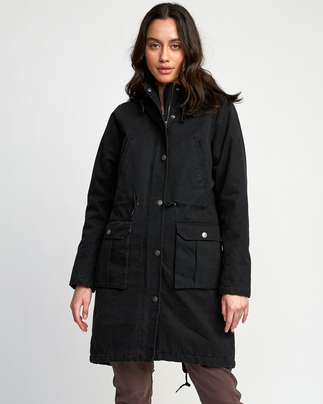 0 Managed Parka Coat Black W705VRMA RVCA