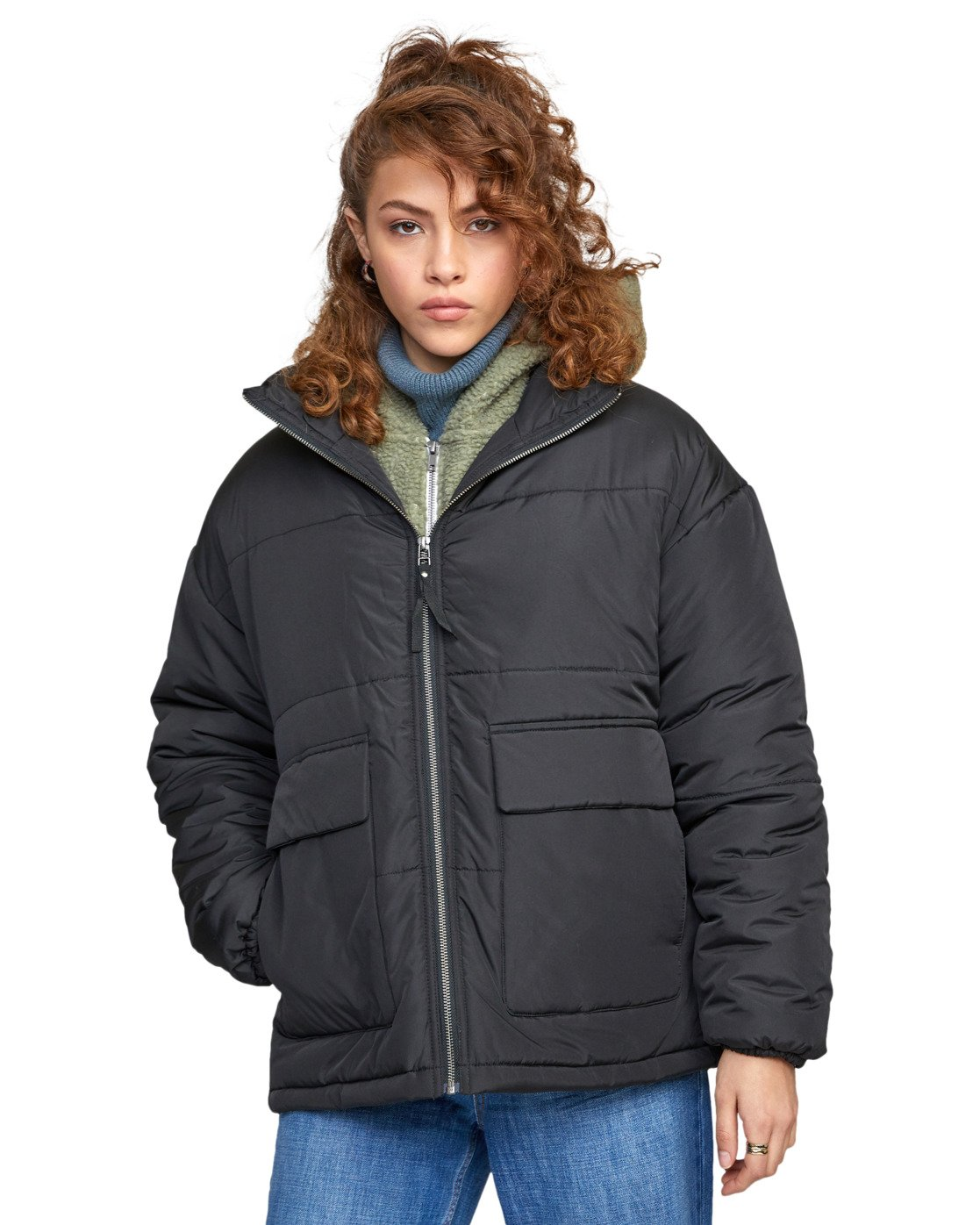 6 MAMMOTH PUFFA JACKET Black W7063RMA RVCA