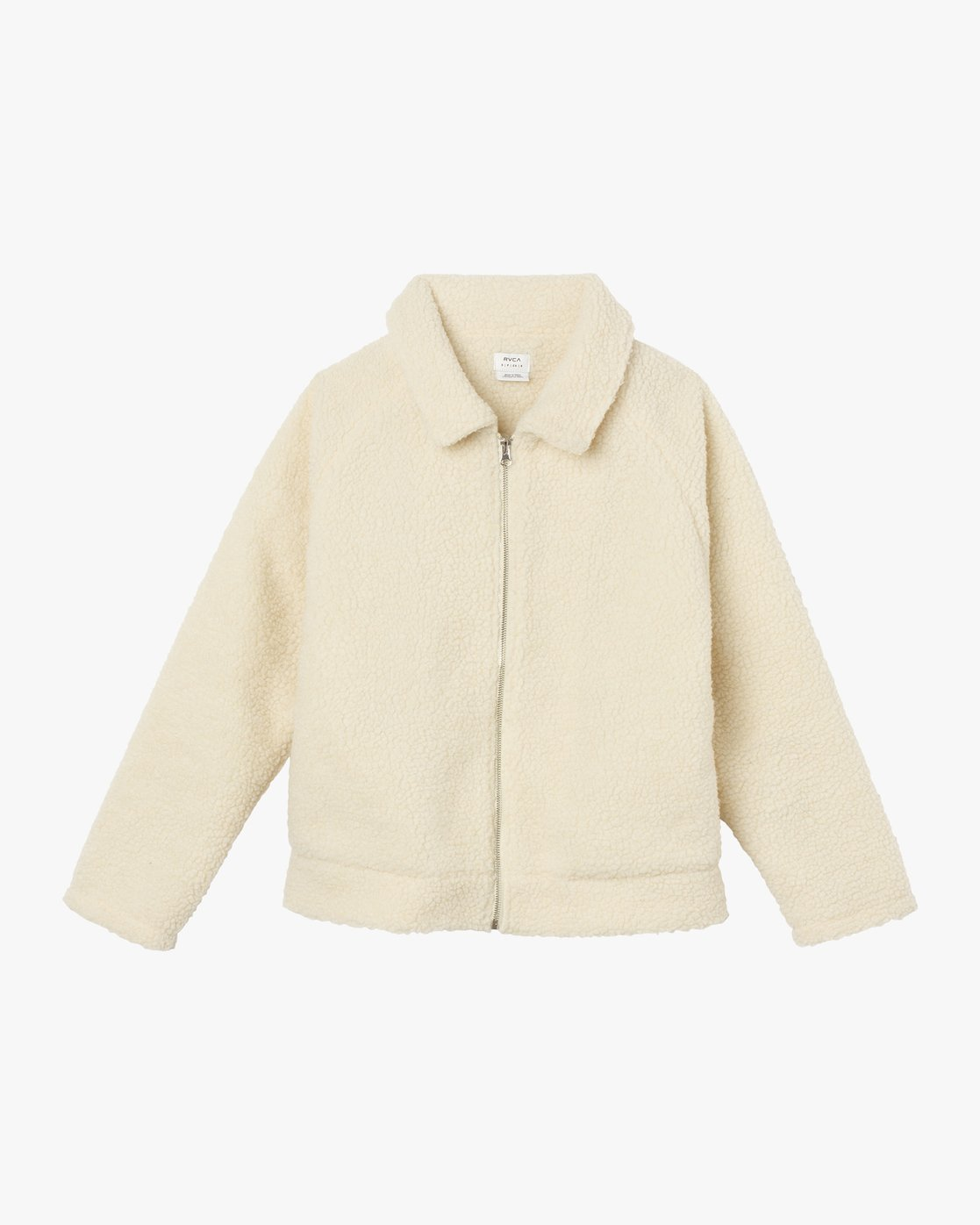 6 Ted Sherpa Jacket White W707SRTS RVCA