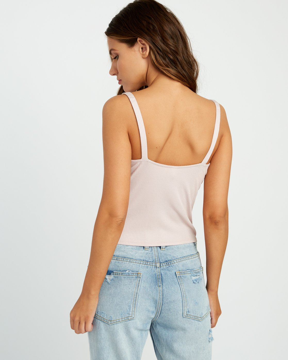 2 Go For Broke Ribbed Tank Top Pink W901URGO RVCA