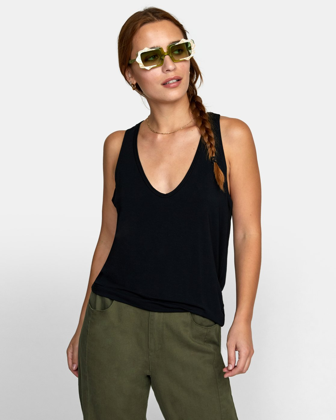 3 MINTED TANK TOP Black W9021RMI RVCA