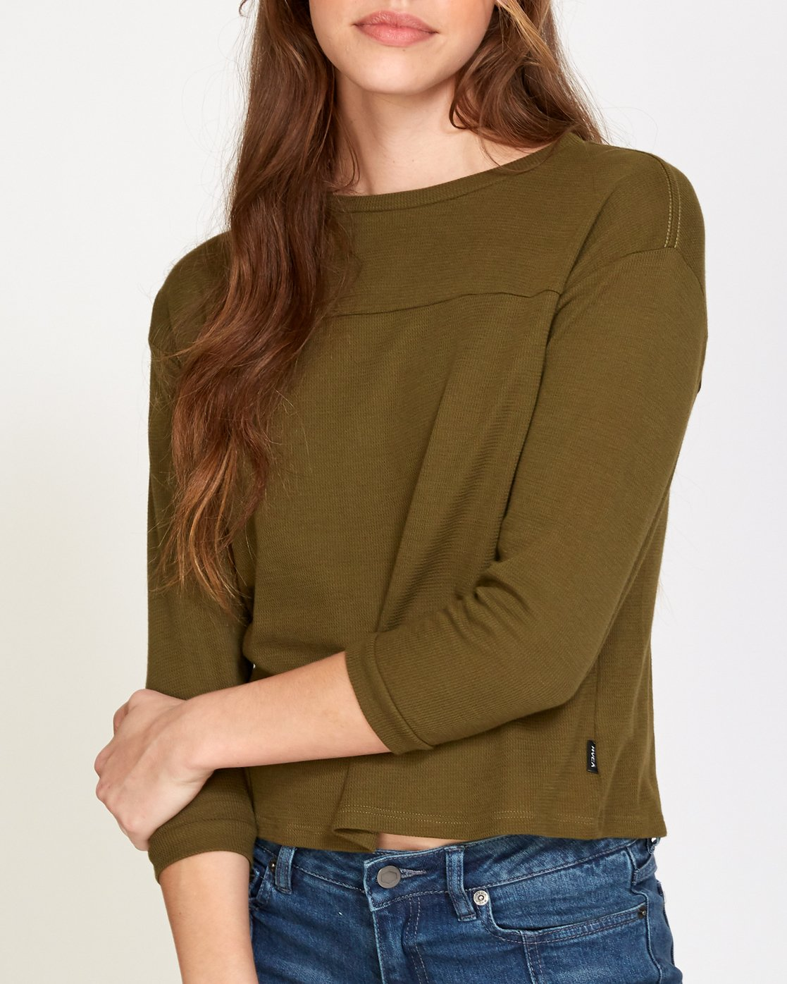 4 Lowry Knit Thermal Top Green W902VRLO RVCA