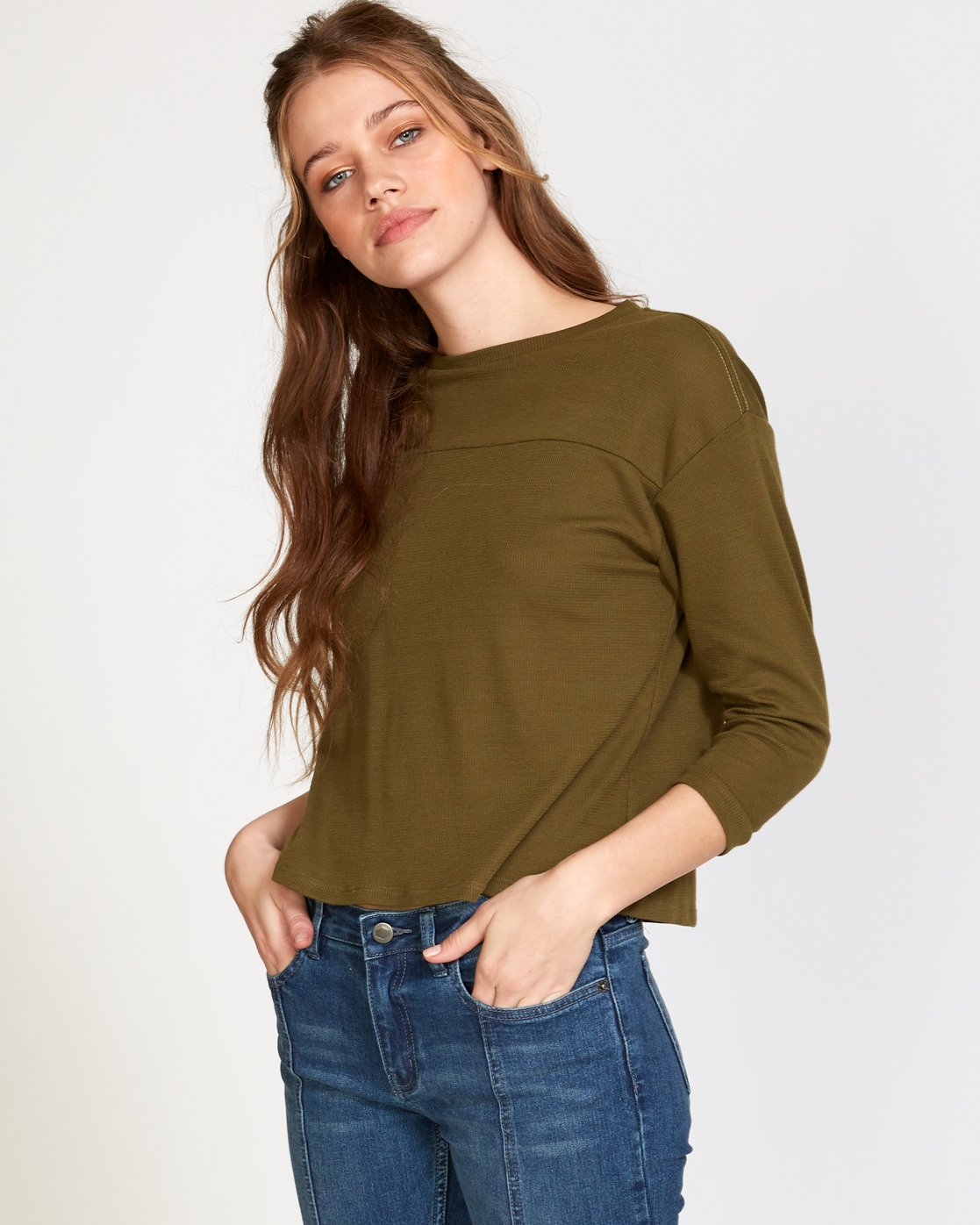0 Lowry Knit Thermal Top Green W902VRLO RVCA