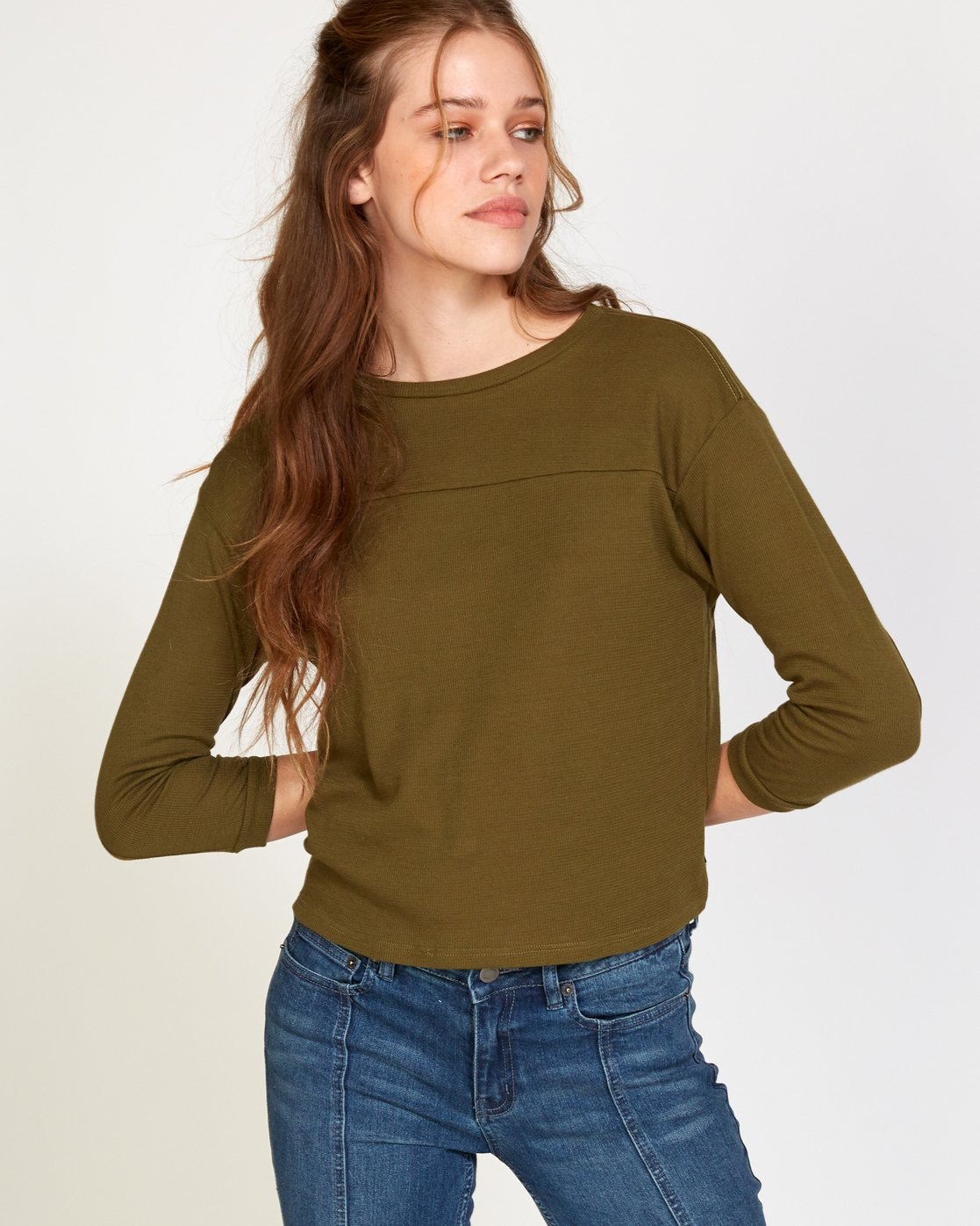 1 Lowry Knit Thermal Top Green W902VRLO RVCA