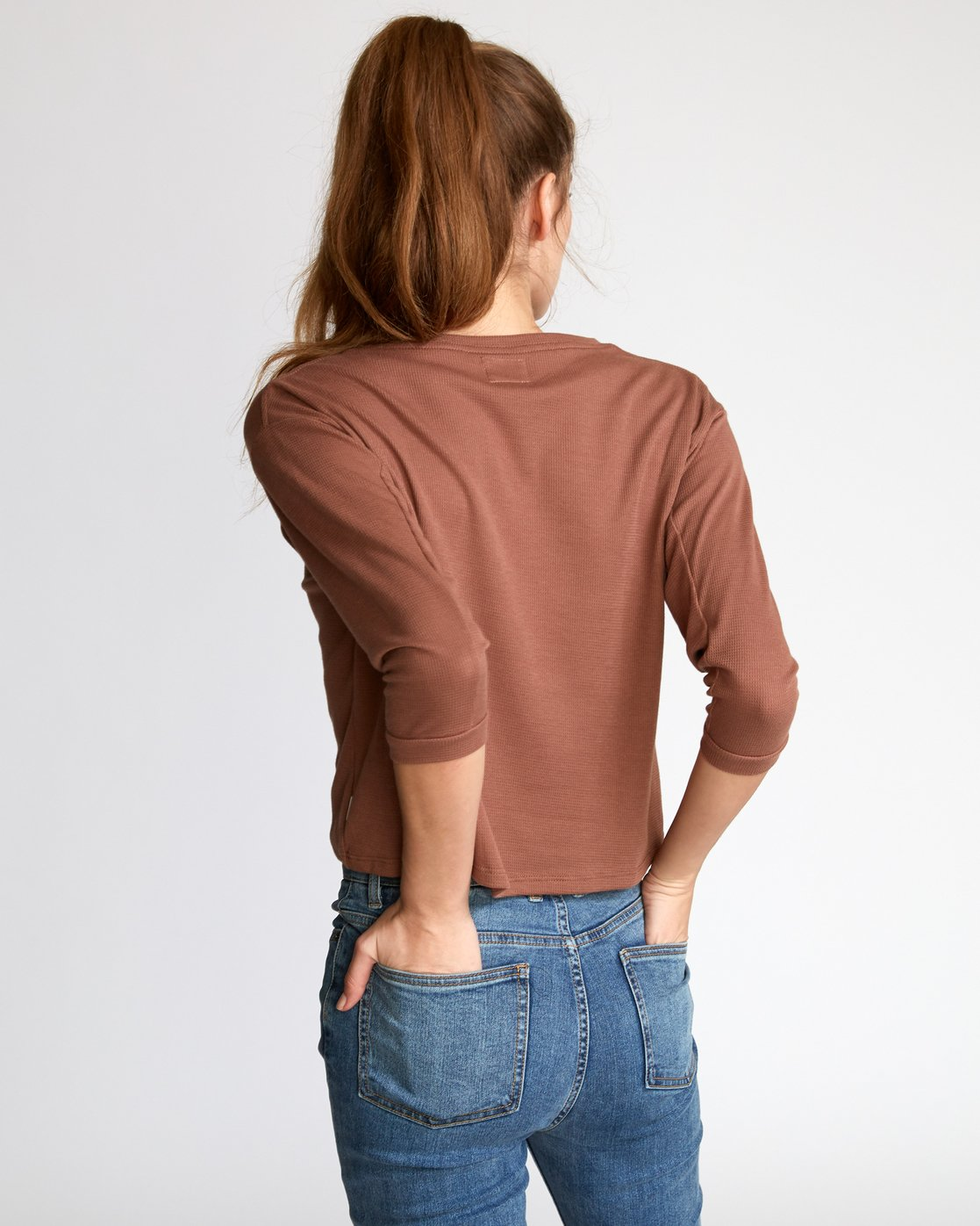 2 Lowry Knit Thermal Top Brown W902VRLO RVCA