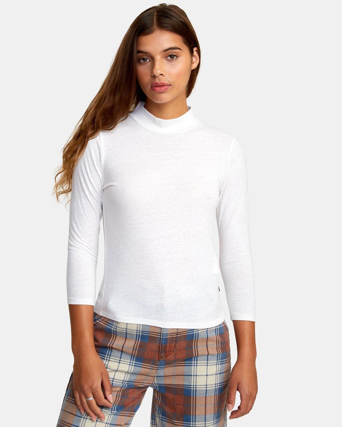 0 Jaye Knit Top White W902WRJA RVCA