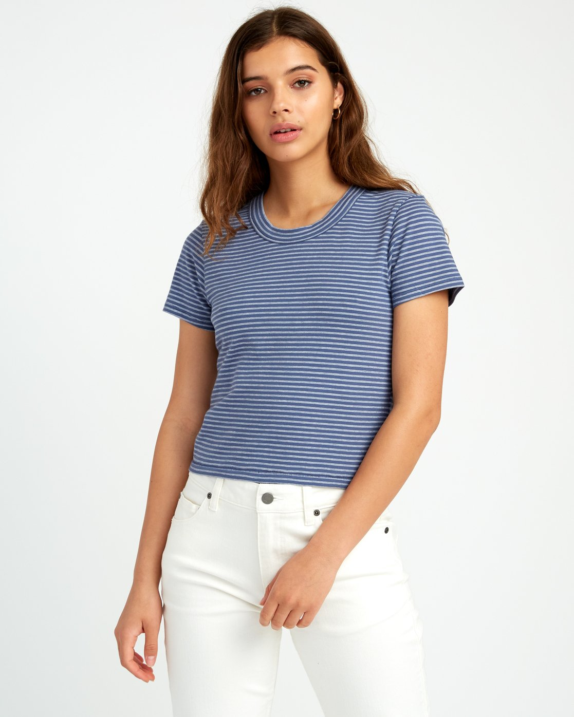0 Fade Out Striped Baby Tee Purple W903URFA RVCA