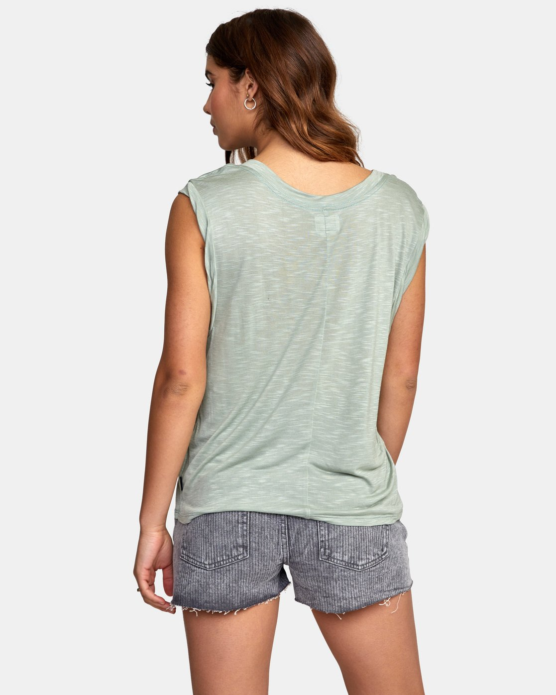 2 MYERS TANK TOP Green W903VRMY RVCA