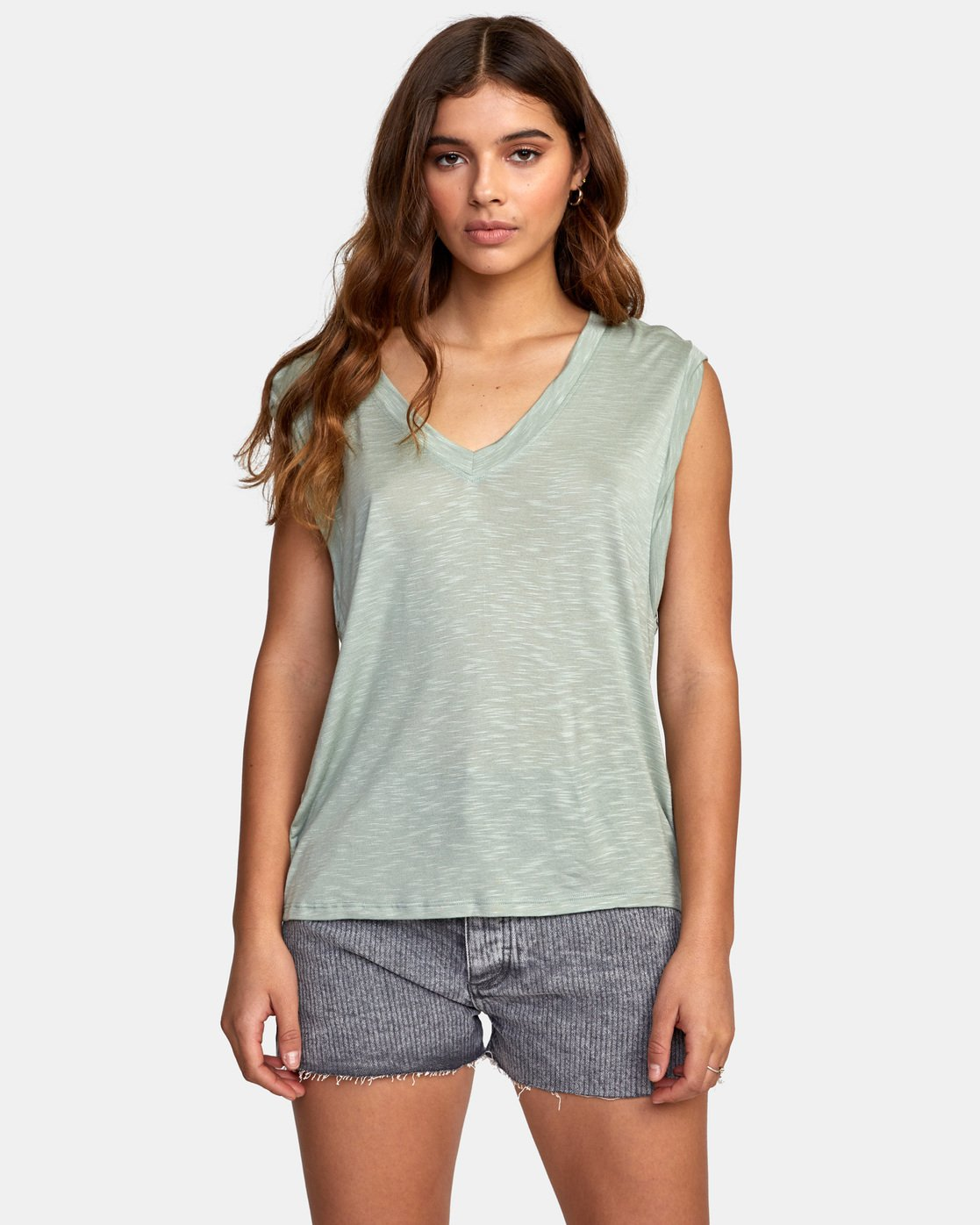 0 MYERS TANK TOP Green W903VRMY RVCA