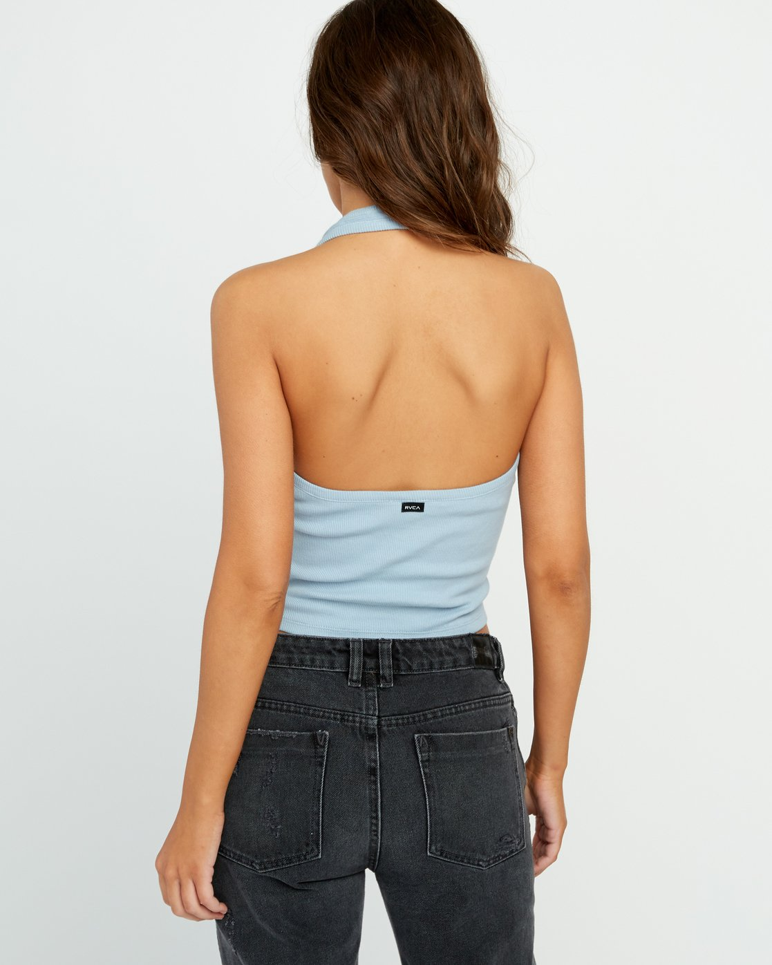 2 On The Fence Halter Top Blue W904UROT RVCA