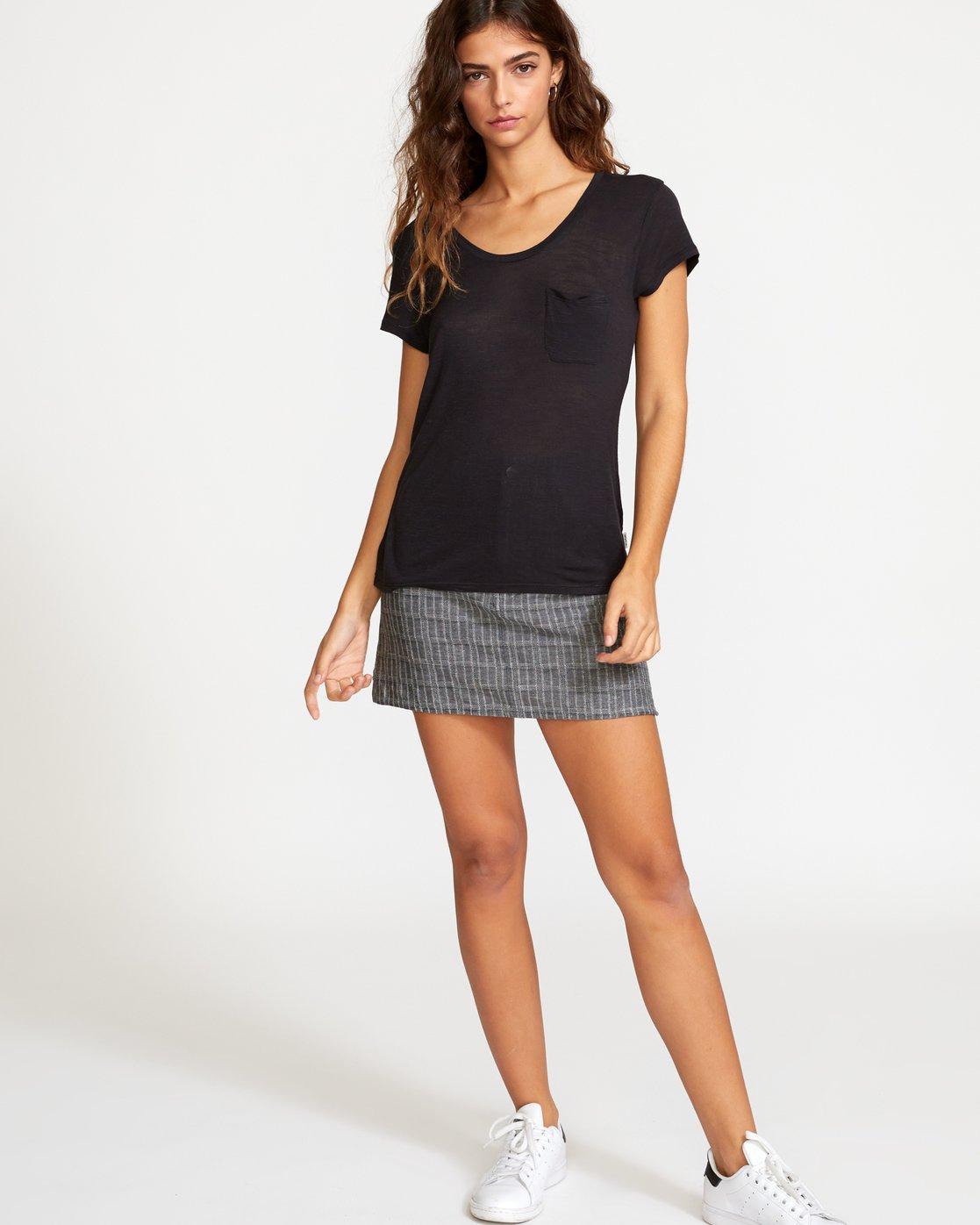 4 Vinyl Jersey Knit T-Shirt Black W904VRVI RVCA