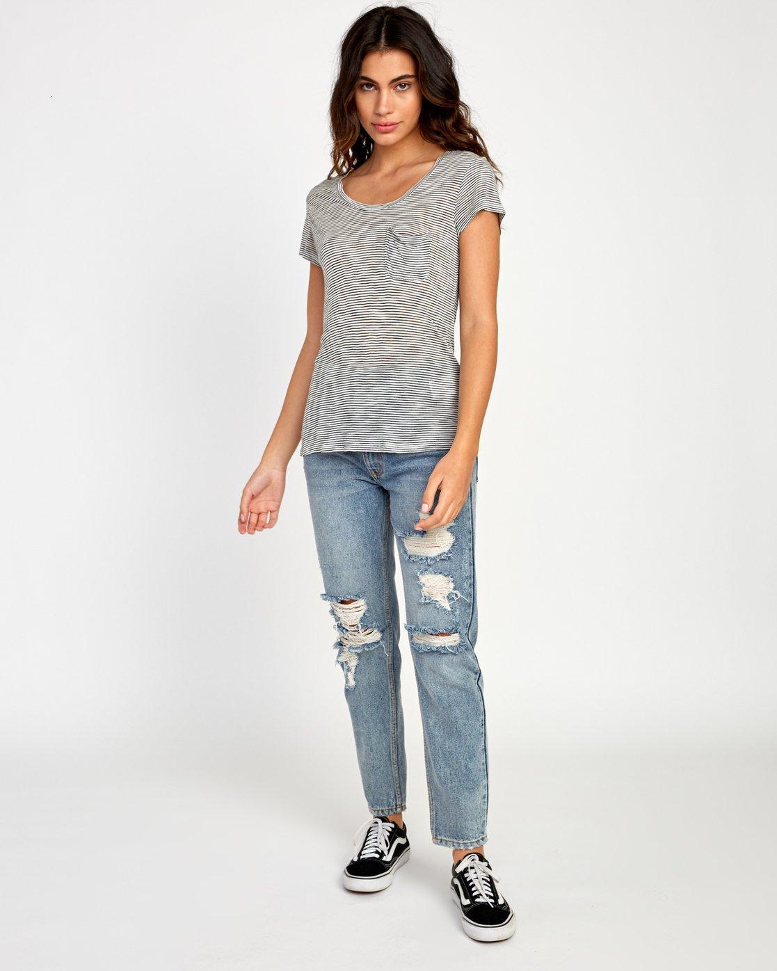 4 Vinyl Jersey Knit T-Shirt White W904VRVI RVCA