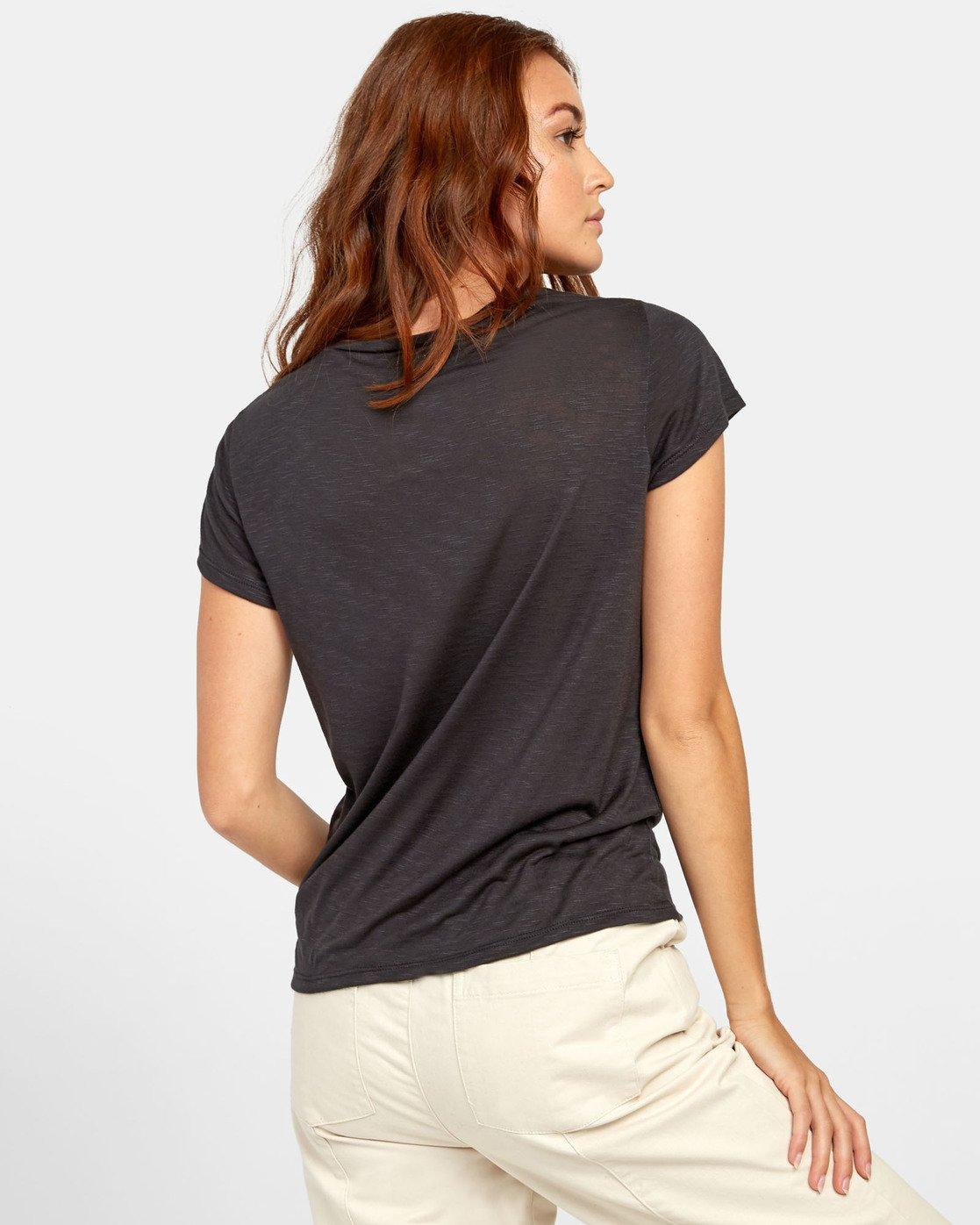 3 Vinyl Jersey Knit T-Shirt Black W904VRVI RVCA
