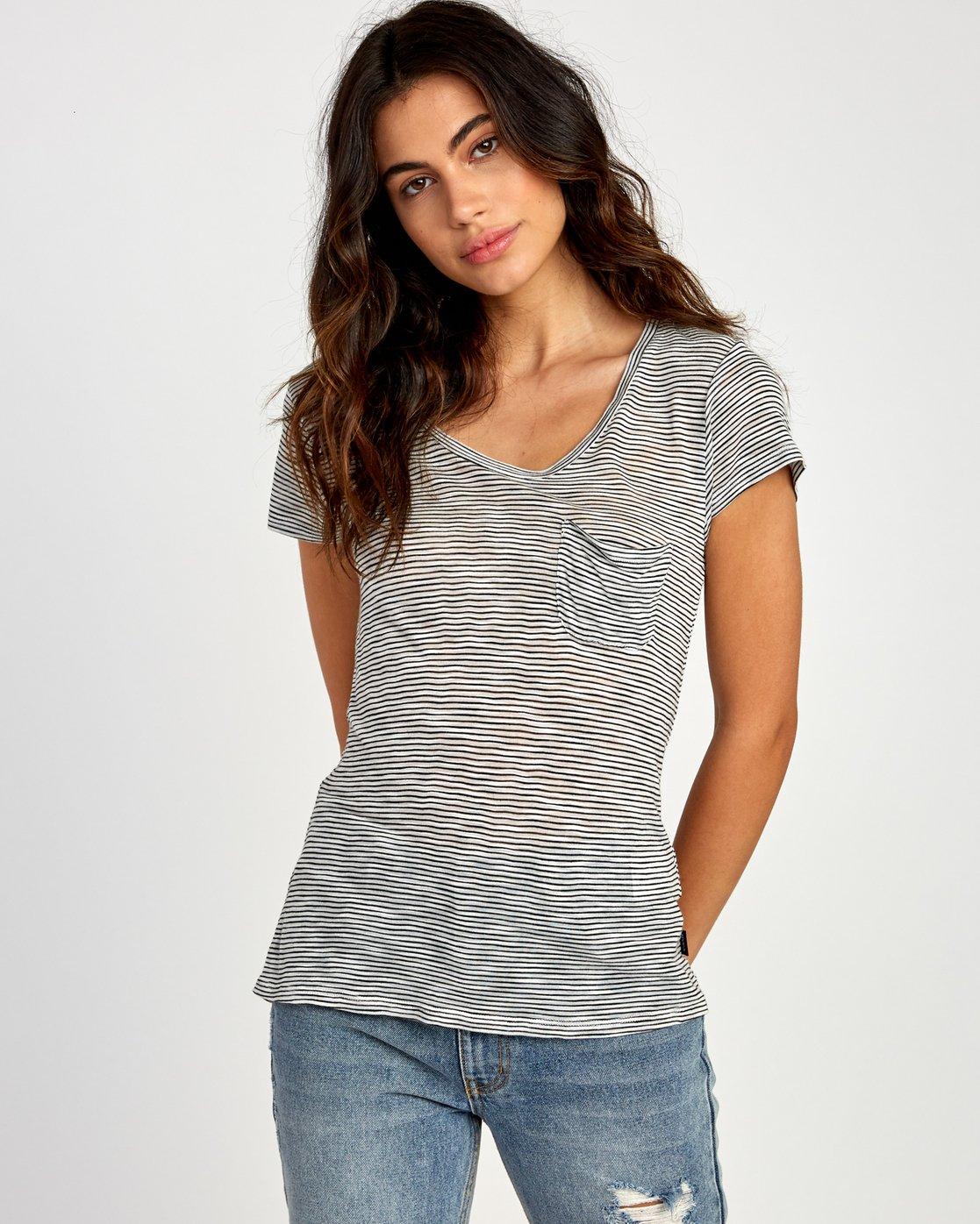 0 Vinyl Jersey Knit T-Shirt White W904VRVI RVCA
