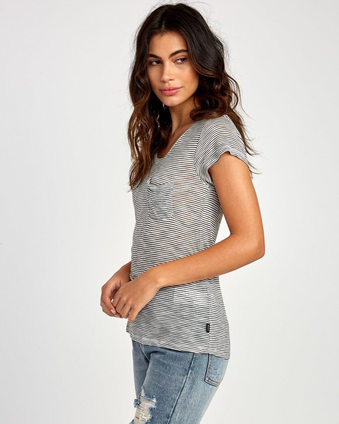 1 Vinyl Jersey Knit T-Shirt White W904VRVI RVCA