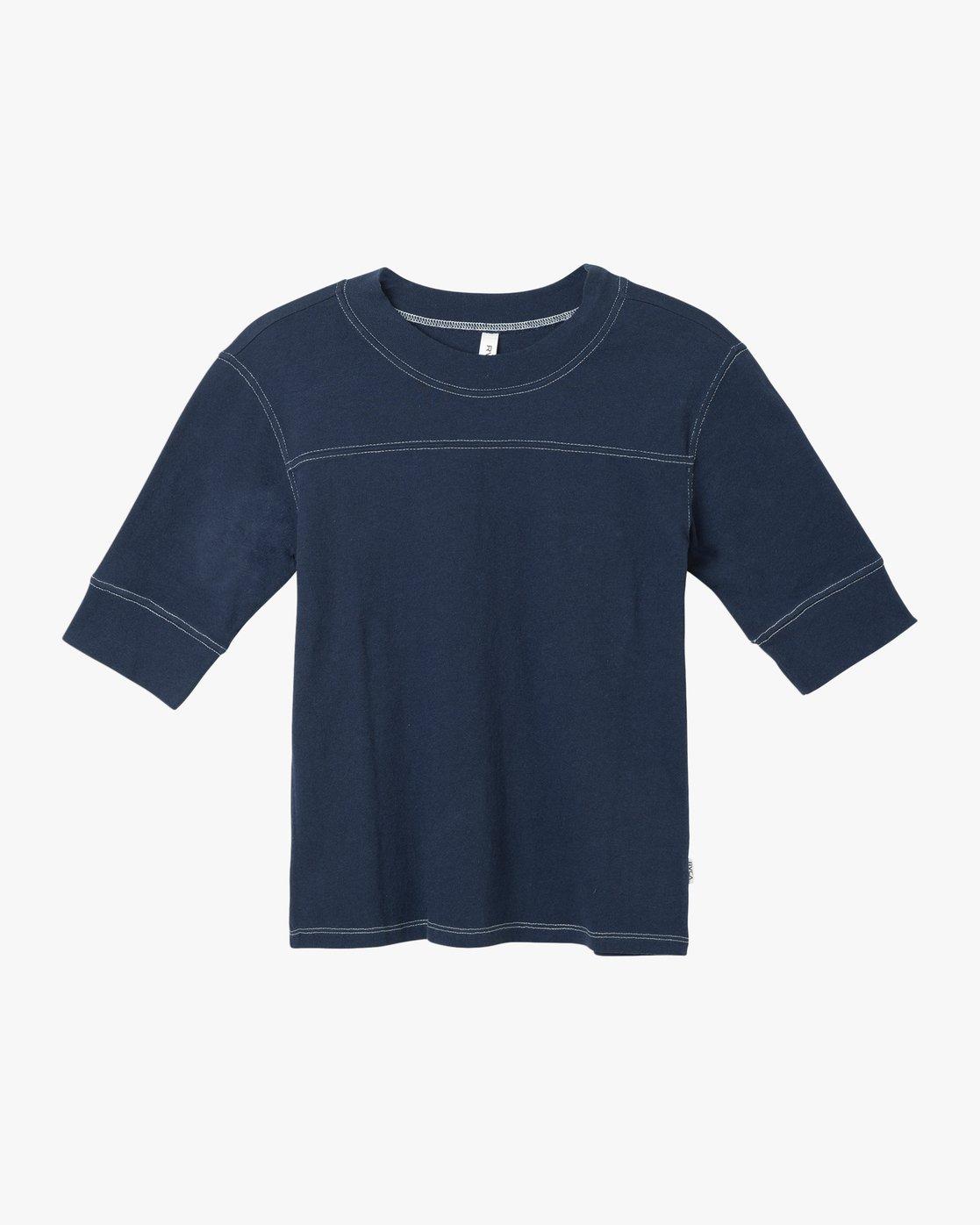 5 Stitched Knit T-Shirt Blue W905TRST RVCA