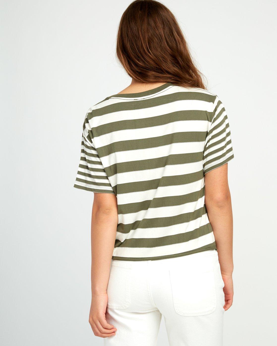 2 Raincheck Striped Knit Tee Green W905URRT RVCA
