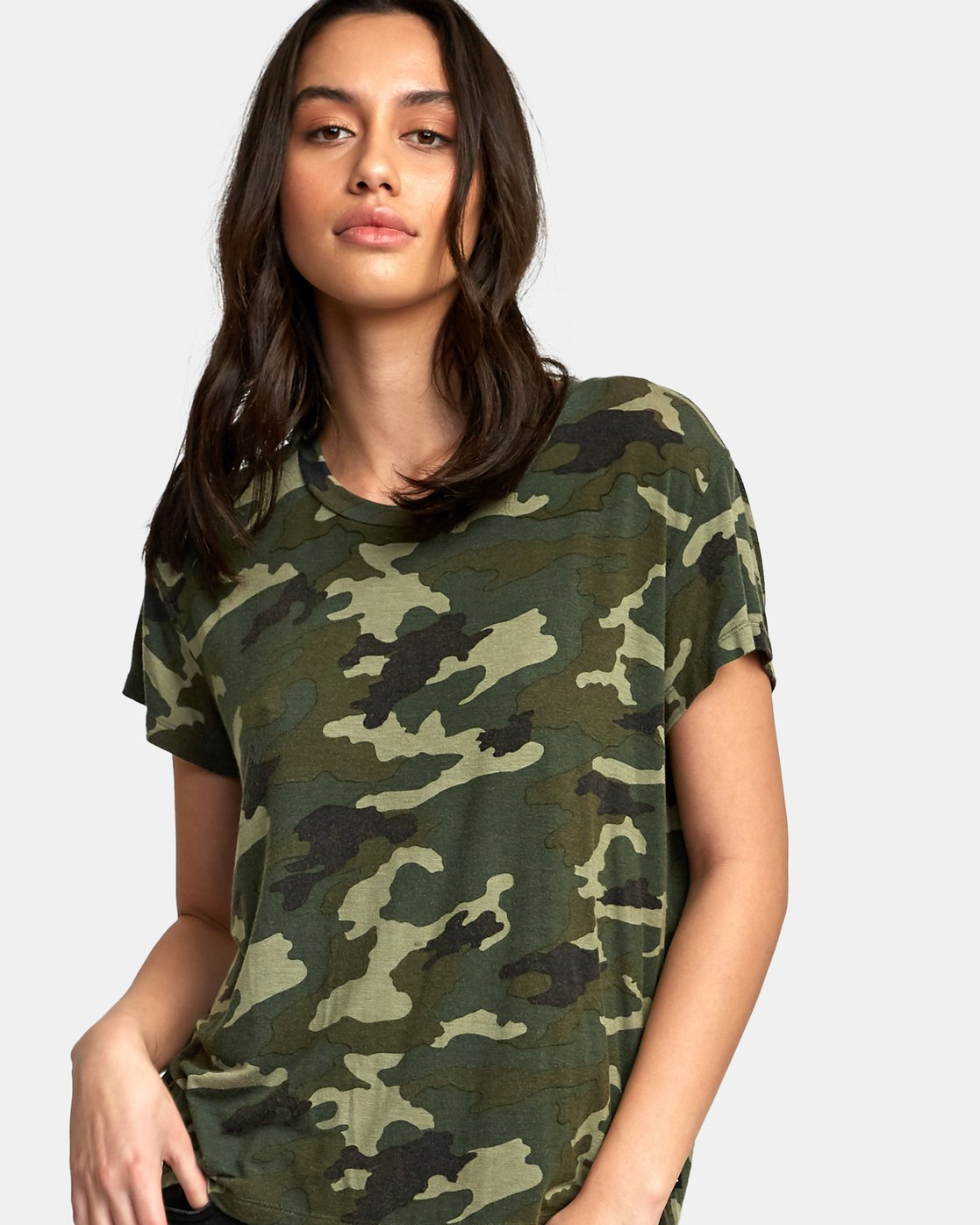 3 Suspension 3 Knit T-Shirt Camo W906VRS3 RVCA