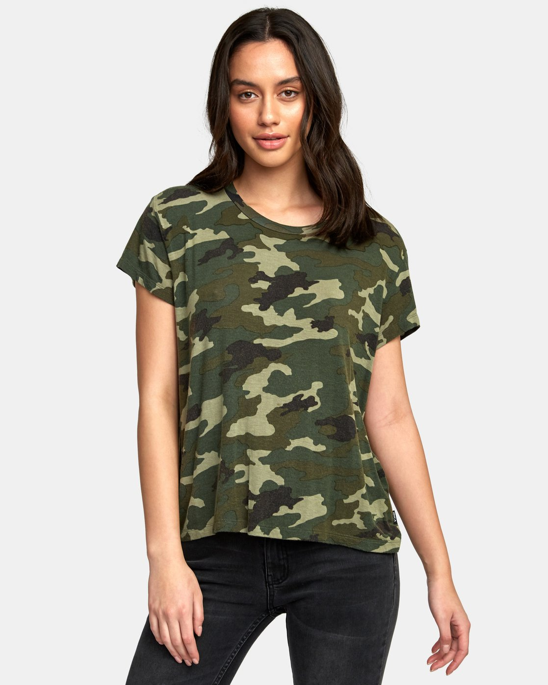 0 Suspension 3 Knit T-Shirt Camo W906VRS3 RVCA